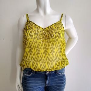 Old Navy Yellow Sparkle Tank Top 1X
